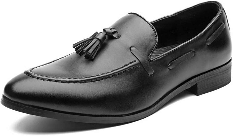 ZHRUI Men Dress shoes Formal Business Leather Oxfords shoes Wedding Party Brogue shoes (color   Black, Size   5.5 UK)