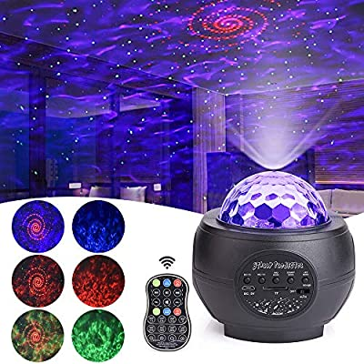LED Disco Light Projector, MICTUNING Strobe RGB Decoration Stage UV Light With Remote Control Sound Activated Time Function USB Power Cable for Xmas Club Bar Halloween Party