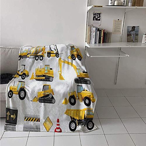 Nazi Mie Musterdecke, gelb gefärbte Baustelle-Maschinerie und Zeichen ausgerichtet für Anzeige, verdicken Decken-Erdgelb-Schwarz-Rot