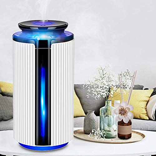 Lai-LYQ Aroma Diffuser, 900ml Luftbefeuchter Ultraschall USB Vernebler Raumbefeuchter LED Humidifier Duftlampe für Büro, Yoga, Spa White