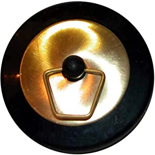 Immerse Bath Plug Rubber and Brass, 50mm, Black and Brass