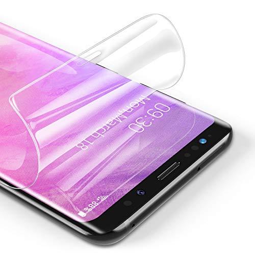 RIWNNI [3 Stück Schutzfolie für Samsung Galaxy S9, Ultra Dünn Weiche TPU Displayschutzfolie (Nicht Panzerglas), HD Klar Displayschutz Folie Full Screen für Samsung Galaxy S9 - Transparent