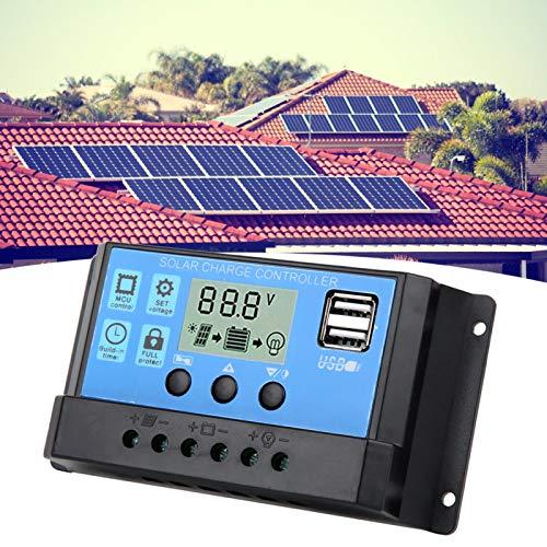 Controlador de Carga LCD Azul 40A Regulador Solar fácil de almacenar Baja...