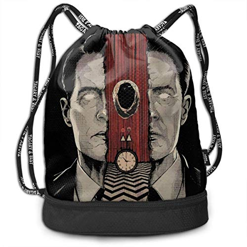 JINGS Dale Cooper Multifunctional Travel Sports and Leisure Mochila con cordón