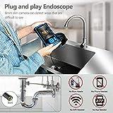 Endoscopio de Tubería, Cámara de Inspección SKYBASIC, Endoscopio Industrial HD 1080P, Cámara Endoscópica, Función de Rotación de Imagen de 360°, Cable Semirrígido, Tarjeta TF de 32 GB (5 M)