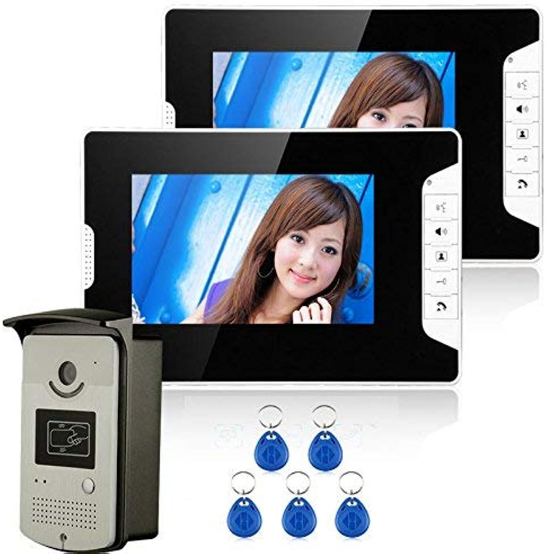 a precios asequibles TQ 7 Color Video Intercom Puerta Puerta Puerta Sistema telefónico con 1 Monitor blancoo 2 Lector de Tarjetas RFID HD doorbell 1000TVL cámara  tienda en linea