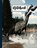 """Notebook: Composition Notebook Suchomimus Dinosaurs- College Ruled 120 Pages - Large 8.5"""" x 11"""" By Dagmar Naumann"""