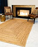 Natural Area Rugs - Jute Rug, Calvin Collection, Basketweave & Chunky Texture, Beige (5' x 8')