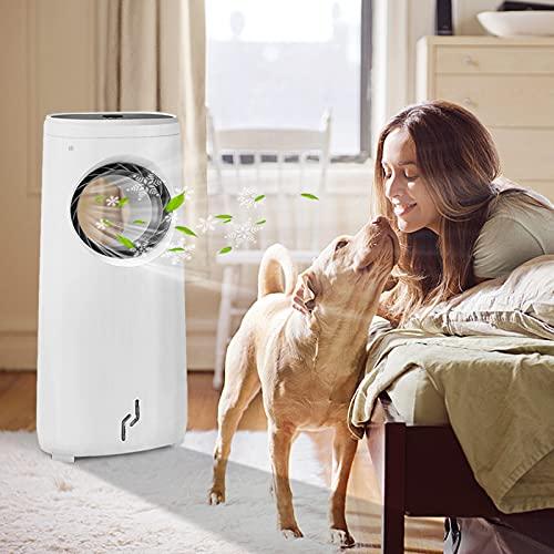 NAIZY Condizionatore portatile senza tubo di scarico, climatizzatore 3 in 1, con telecomando, 80 W, climatizzatore silenzioso da 4 litri, ventilatore portatile