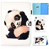 Succtop Hülle für Lenovo Tab M10 10.1 PU Leder Folio Cover mit Standfunktion Brieftasche Stiftband Tablet Schutzhülle Lenovo M10 (TB-X505F TB-X505L TB-X605FTB-X605L)/ P10 10.1, Panda Winkt
