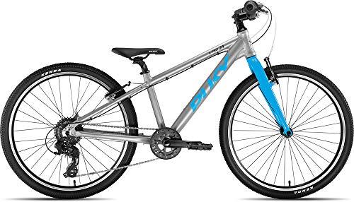 Puky LS-Pro 24-8 Alu Kinder Fahrrad silberfarben/blau