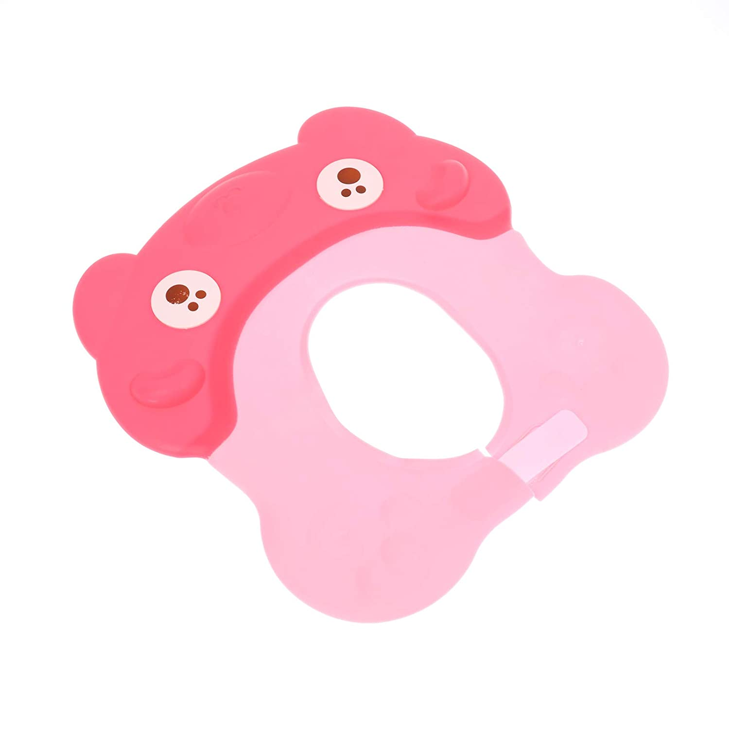 Baby Shower Cap Visor with Ear Protection for Bathing Washing Hair, Soft Hat Adjustable Waterproof Shampoo Shower Cap Bathing Hat for Toddler, Kids, Girls, Boys, Children (Pink)