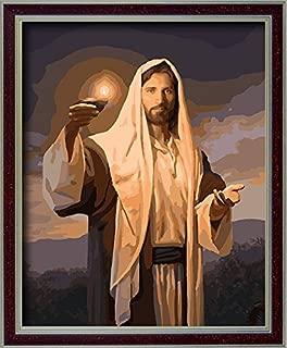 DoMyArt DIY Oil Painting, Paint by Number Kits - Jesus 16X20 Inch (Jesus Lanterns)