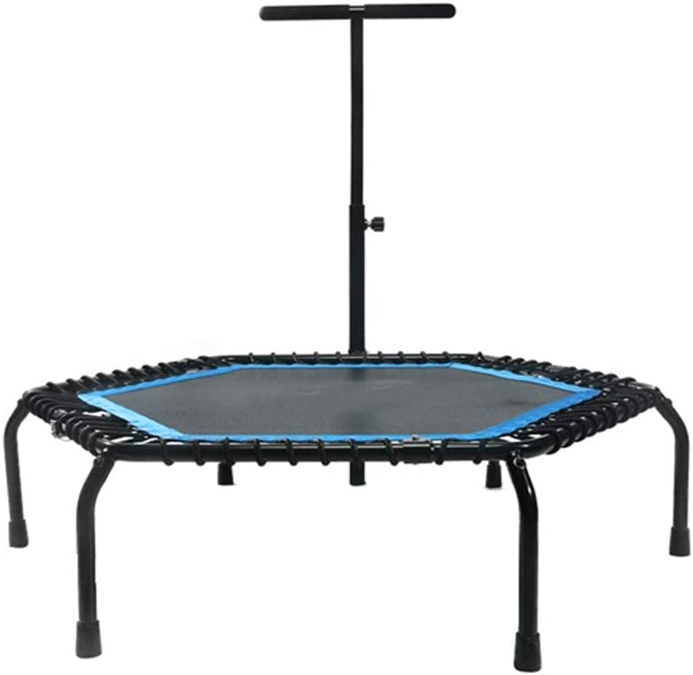 Trampoline with Max 84% OFF Adjustable Handrail excellence Exercise Bo Workout Fitness