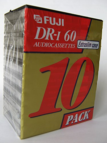 Lowest Prices! Fuji DR-I Audio Cassettes Extra Slim Case 10 Pack
