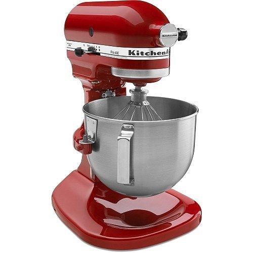 KitchenAid Pro 450 Series 4-1/2-Quart Stand Mixer, Empire Red (Renewed)
