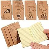 Shulaner Portátil Notebook Paginas en Lined Cuaderno Extra Small Cute Notebook pequeño Pack de 20