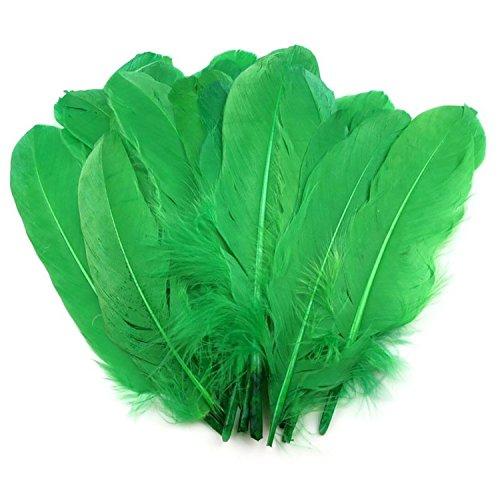20 Enten-Federn 15-21cm Bastelfedern Federn f. Basteln Dekoration Hüte Kostüme, Farbe:pastellgrün