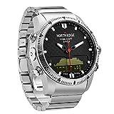 OOLIFENG Multisport Smartwatch - 100m/10 ATM Wasserdicht Armbanduhr mit Kompass Barometer Höhenmesser Thermometer