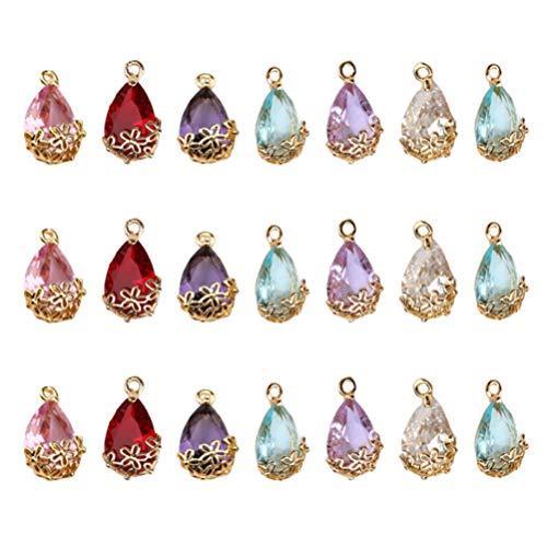 HEALLILY 21Pcs Colgantes de Piedra Colgante de Piedras Preciosas para Collar Pulsera Joyería Artesanía