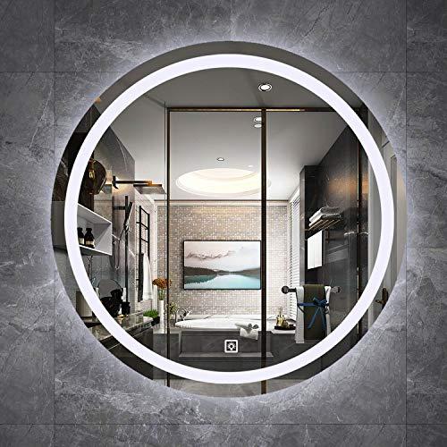GETZ Espejo de Baño con Iluminación LED, con Función de Atenuación, Espejo de Tocador Antivaho a Prueba de Polvo, Múltiples Opciones