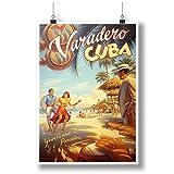 Varadero Cuba Year Paradise Art A0 A1 A2 A3 A4 Poster de fotos satinado p11891anh