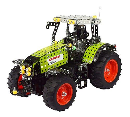 Tronico 10058 - metalen bouwdoos tractor Claas Axion 850 met afstandsbediening, Profi Serie, schaal 1:16, 734-delig, groen