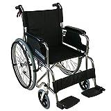 Mobiclinic Sedia a rotelle Pieghevole | Leggera | Braccioli e poggiapiedi fissi | Larghezza Seduta 46 cm | Alluminio | Palacio, Grande