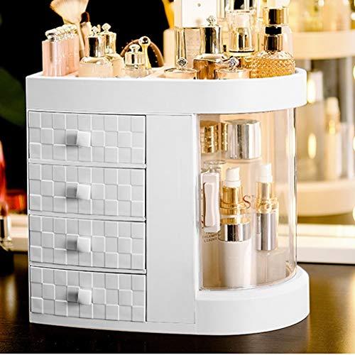 CHICTI Make-up Organizer, 180 Grad Drehen Klar Schmuck Kosmetik Parfüm Aufbewahrungsbox 5 Schicht Große Kapazität Schminktisch