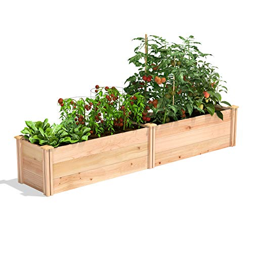 Greenes Fence Premium Cedar Raised Garden Bed, 16' x 96' x 16.5'