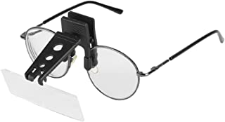 Clip On Glasses Type Magnifying Glass Magnifier 1.5X 2.5X 3.5X Magnification Plastic Lens with Hard Case