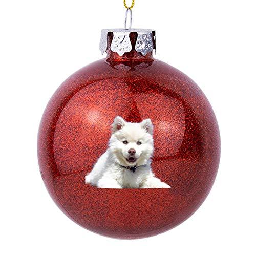 Weihnachtsschmuck, weißer Husky-Welpe mit blauen Augen, Weihnachtsdekoration, 7,6 cm