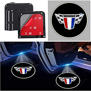 For Camaro Car Door Logo Lights Projector Courtesy Ghost Shadow Lamp Suitable fit Camaro All Models Cars  forCamero