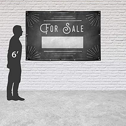 for Sale Chalk Corner Heavy-Duty Outdoor Vinyl Banner CGSignLab 9x6