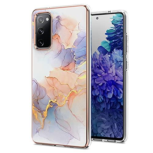 ChoosEU Funda para Samsung Galaxy S20 FE 5G Silicona Mármol Glitter Creativa Carcasas para Chicas Mujer Hombres, Case Antigolpes Bumper Galaxy S20 FE 5G Cover Caso Protección - Color Blanco