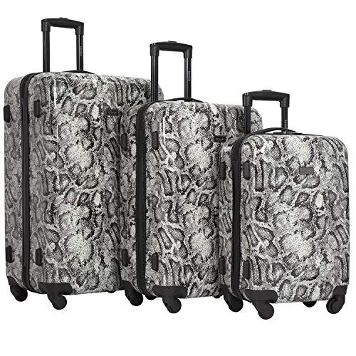 kensie 3 Piece Luggage Set, Snake Skin