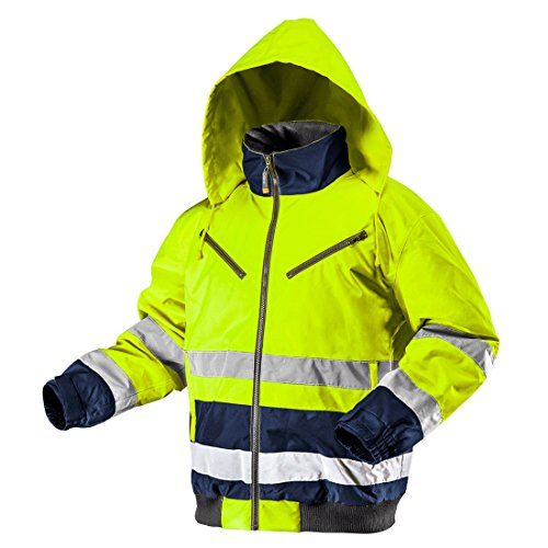 Neo Tools Thermo Warnschutzjacke EN 20471 Warnjacke orange Neon gelb Arbeitsjacke Warnschutz Sicherheitsjacke L Neongelb