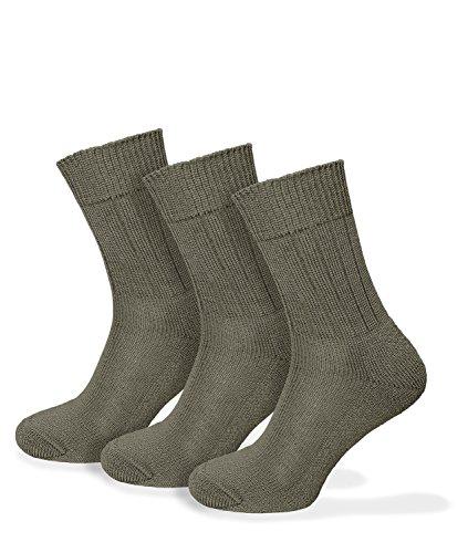 BW Socken Original oliv 3er-Set - 42-44