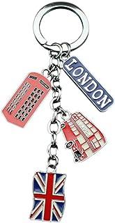 LUOEM UK Flag Metal Keychain Souvenir Keychain Union Jack Keyring Car Keyring Bag Charms
