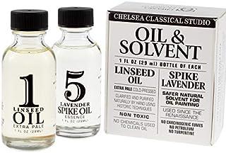 1oz Chelsea Classic Studio Pale Linseed Oil & 1oz. Lavender Spike Oil Sampler Set