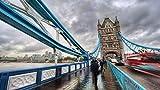 wffmx Classic Puzzle Adult Challenge Impossible-Puzzle De 1000 Piezas-London Tower Bridge 3D Puzzle De Madera-Puzzle De Juguete Educativo para Niños-75X50cm