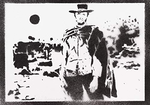Clint Eastwood Poster Western Plakat Handmade Graffiti Street Art - Artwork