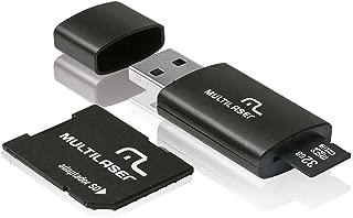 Adaptador 3 em 1 SD + Pendrive +Cartão De Memória Classe 10 32GB Preto Multilaser - MC113