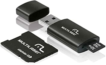Adaptador 3 em 1 SD + Pendrive +Cartão De Memória Classe
