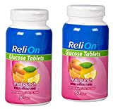 Relion Glucose Tablets - Fruit Punch Flavor - 50 Counts (2 Pack)