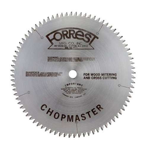 Forrest CM12806115A Chopmaster 12-Inch 80 Tooth 4 PTS + 1 Flat 1/8-Inch Kerf Saw Blade with 5/8-Inch Arbor