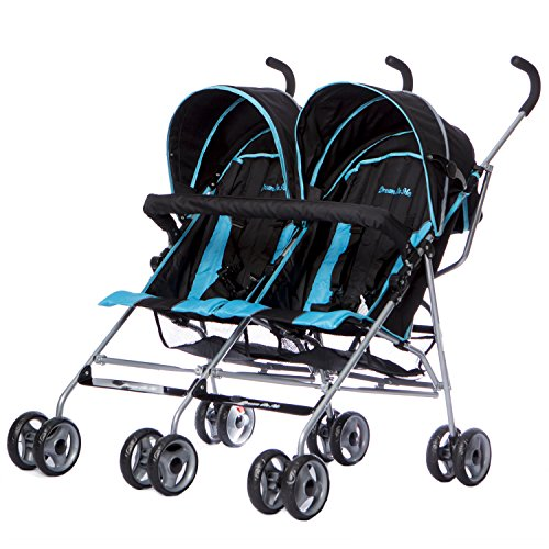 Dream On Me Double Twin Stroller, Black