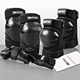 GROTTICO Adult-Youth Knee-Elbow-Pads Wrist-Guards - Skateboard Roller Inline Ice Skate BMX Bike Scooter Protective Gear Set