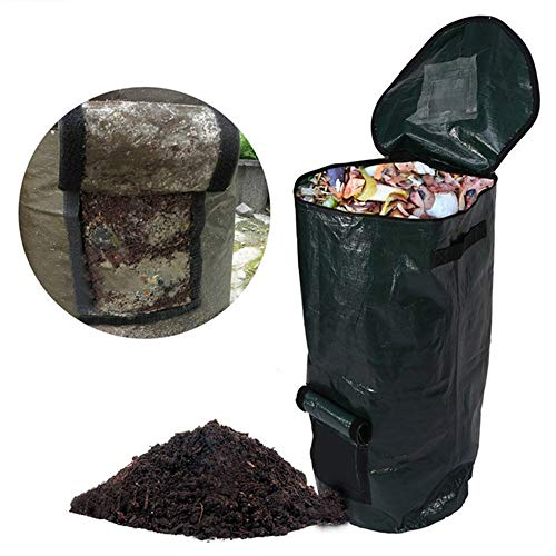 Read About QIHONG PE Cloth Compost Bag Ferment Garden Waste Bin,Durable & Anti-Corrosive,Foldable,fo...