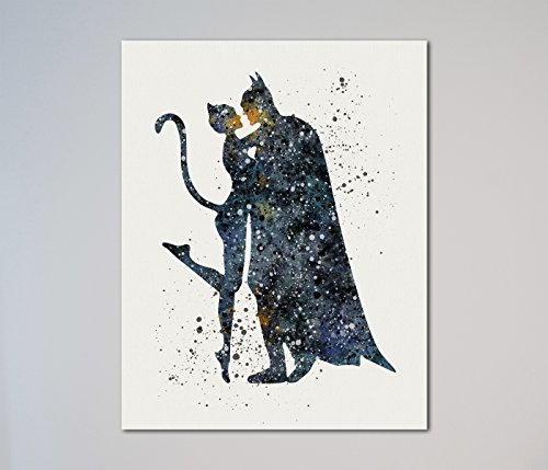 Catwoman and Batman 11 x 14 inches Print